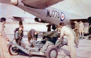 Bombing up a Canberra Akrotiri