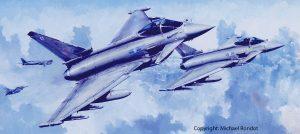 Typhoon Mike Rondot Painting